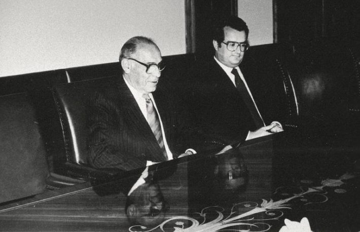 Luís Oliveira Nunes ja Edgar Savisaar. Foto: Rahvusarhiiv