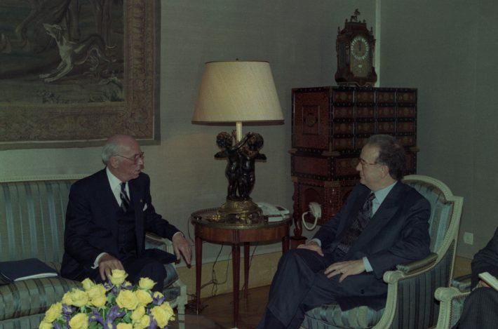 Lennart Meri ja Jorge Sampaio. Foto: Portugali Presidendi Kantselei arhiiv