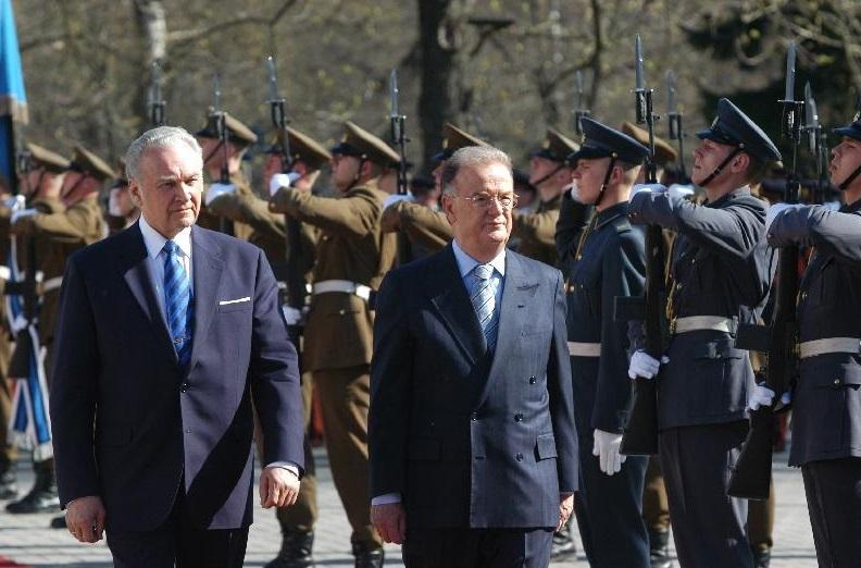 Portugali president Jorge Fernando Branco de Sampaio riigivisiit Eestisse. Foto: Rahvusarhiiv