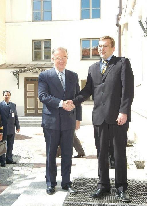 Portugali president Sampaio kohtub Juhan Partsiga. Foto: Rahvusarhiiv