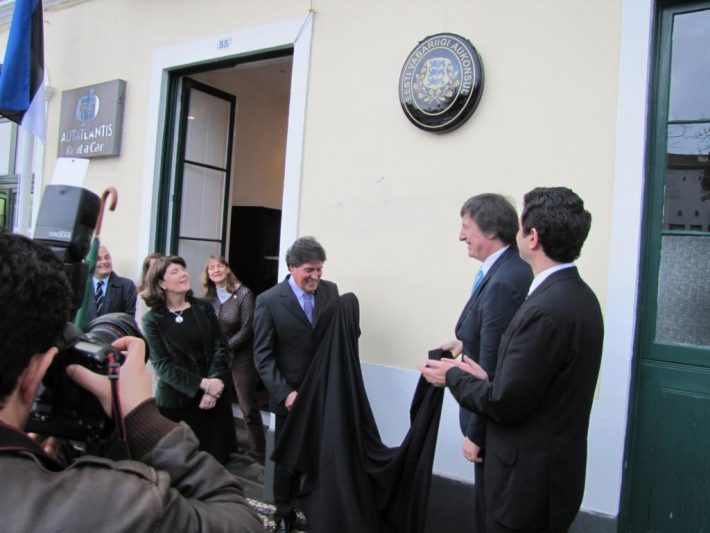 Ambassador Mart Tarmak opened the Estonian Honorary Consulate in Ponta Delgada on the island of São Miguel, the Azores. Photo: Archives of the Embassy