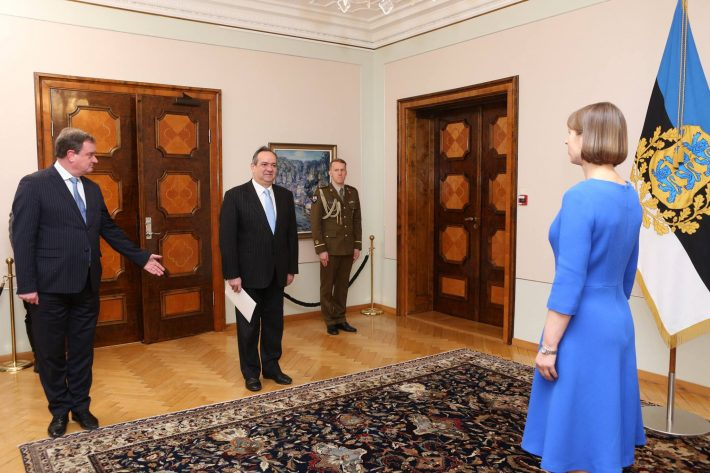Ambassador of Portugal António Manuel Coelho da Costa Moura presented his credentials to President Kersti Kaljulaid. Photo: Annika Haas, Archive of the Office of the President of Estonia