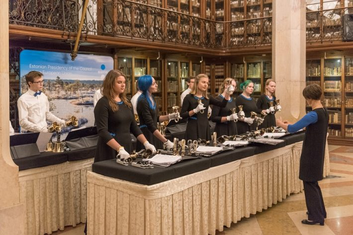 Concert of the Arsis Handbell Ensemble. Photo: Archives of the Embassy