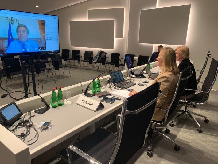 Eesti-Portugali välisministeeriumide vahelised kahepoolsed EL konsultatsioonid 13.07.2020. Foto: Portugali välisministeerium