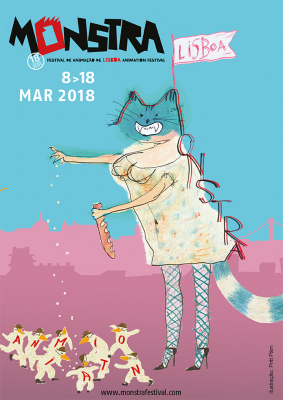 Poster for the MONSTRA Festival designed by Priit Pärn