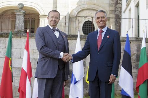 Eesti president Toomas Hendrik Ilves kohtumas Portugali president Jorge Sampaioga. Foto: Portugali Presidendi Kantselei arhiiv