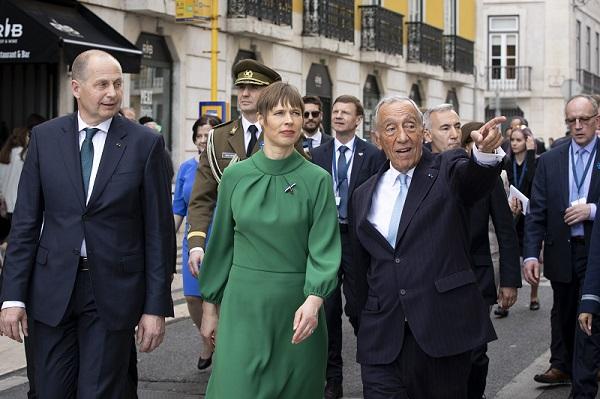 Presidendid tänaval. Foto: Portugali Presidendi Kantselei arhiiv