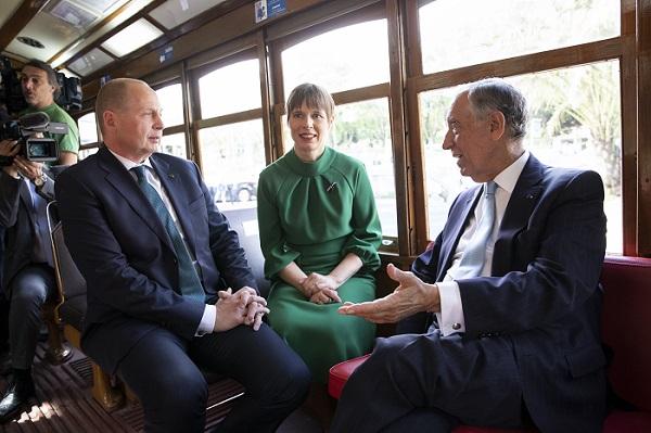 Presidendid trammis. Foto: Portugali Presidendi Kantselei arhiiv